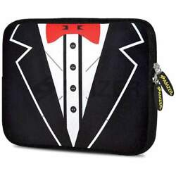 Amzer 10.5 Inch Neoprene Designer Sleeve Cover For Tablets - Tux Red Bow
