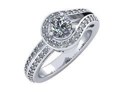 2.00ct Round Cut Diamond Love Knot Bridal Engagement Ring Solid 14k Gold
