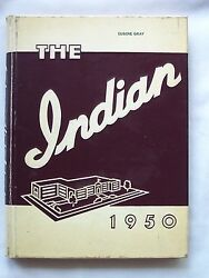 1950 Anderson High School Yearbook Anderson, Indiana The Indian