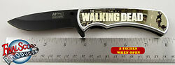 The Walking Dead Zombie Killer Limited Edition Spring Assisted Knife 4.5 Closed