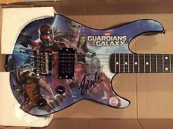 Signed By Stan Lee - Guardians Of The Galaxy Peavey Guitar Marvel Limited Coa