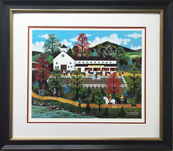 Jane Wooster Scott Queen Of The Trail Newly Framed Lithograph Hand Signed Ny