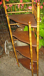 Antique Primitive Country Bamboo Adirondack Home Cabin Art Wood Shelf Stand Usa