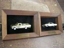 Oem Ford Dealers 1964 Galaxie Car + 1966 Truck Sales Awards Promo Cars Gold