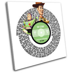 Toy Story Friend Record Song Lyrics Movie Vinyl Canvas Wall Art Picture Print
