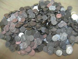 Huge Lot 2000+ Canadian Nickels Mix 1922 To 1954.