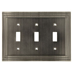 W22986-904 Lexington Brushed NIckel Triple Toggle Switch Plate Cover