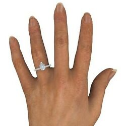 1.25 Ct Pear Cut H/vs2 Enhanced Diamond Solitaire Engagement Ring White Gold