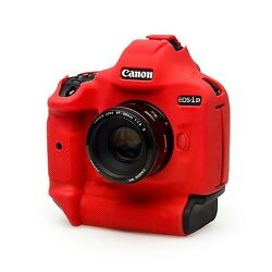Easycover Armor Protective Skin For Canon Eos 1dx And 1dx Mark Ii Red