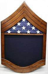 Air Force Chief Master Sergeant Military Wood Shadow Box Medal Display Case