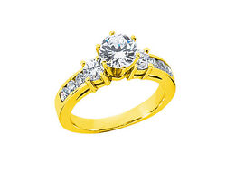 1.20ct Round Brilliant Cut Diamond Engagement Ring Solid 18k Gold