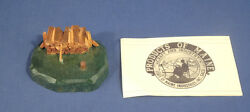1939 Folk Art Wood Paperweight By Products State Of Maine Industries Inc Saco Me