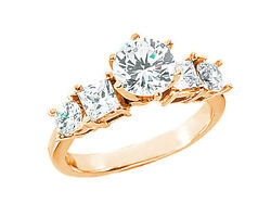 1.80ct Diamond Open Gallery Engagement Ring Princess Round Accent 14k Gold