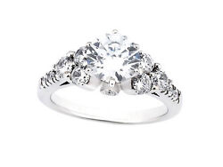 Genuine 1.50ct Round Cut Diamond Bridal Engagement Ring Solid 14k Gold I Si2
