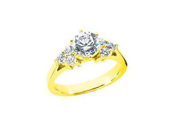 1.40ct Round Diamond Open Gallery Engagement Ring Solid 18k Gold G Si1