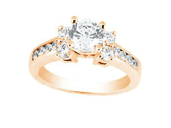 1.10ct Round Brilliant Cut Diamond Engagement Ring Solid 18k Gold G Si1