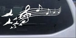 Birds To Music Scale Notes Car Or Truck Window Laptop Decal Sticker