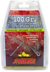Swhacker 100 Grain 1 3/4 Replacement Blades 6 Pack