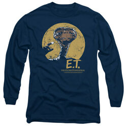 E.t. The Extra-terrestrial Sci-fi Film Moon Frame Adult Long-sleeve T-shirt