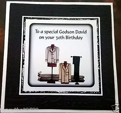 Mens Handmade Personalised Birthday Card Suit ANY AGE Shop Fashion Clothes GBP 5.20