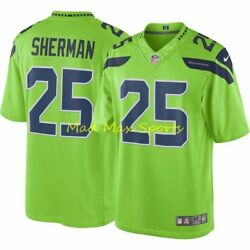 Richard Sherman Seattle Seahawks Nike Color Rush Limited Throwback Jersey S-xxl