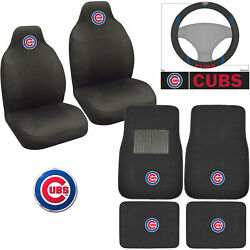 Mlb Chicago Cubs Car Truck Seat Covers Floor Mats Steering Wheel Cover Emblem