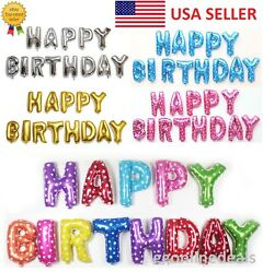 16quot; Gloss Large Foil Letter Number Balloons Birthday Wedding Party Decoration $1.29