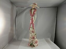 2004 Blue Sky Clayworks By Heather Goldminc Lady In Pink 16 Tall