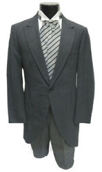 Men's Gray Morning Coat Cutaway with Optional Hickory Striped Pants