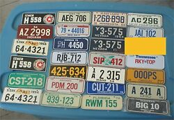 50s--70s 71 Wheaties Cereal Mini Auto Bicycle Bike Metal License Plate States
