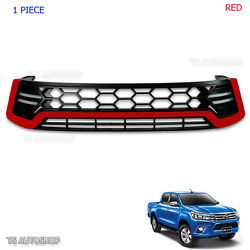 Front Grille Grill Toyota Hilux Revo Sr5 M70 M80 4x4 4x2 Ute Red Drl Daylight