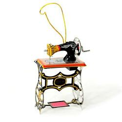 Tin Toy Sewing Machine Christmas Tree Ornament 3 Retro Vintage Style New Craft