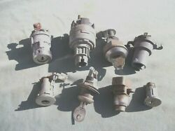 Miscellaneous Switches And Locks. Eight Used Parts. Please Read Description.