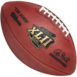 Super Bowl Xlii 42 Giants V. Patriots Official Leather Game Football By Wilson