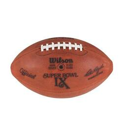 Super Bowl Ix 9 Vikings Vs. Steelers Official Leather Game Football By Wilson