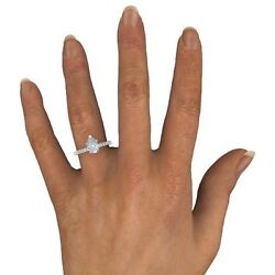 1.50 Ct Pear Cut E/vs2 Natural Diamond Solitaire Engagement Ring 18k White Gold