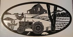 1 Tractor Barn Rooster Farm Decal Camper Vinyl Graphic Rv Motor Home 5th Wheel