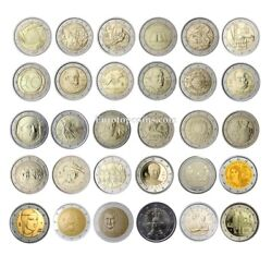 Rm 2 Euro Commemorative Italy 2004-2021 - All Pieces - Please Choose