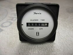 Mh0017d Faria Marine Boat Hour Meter Gauge White