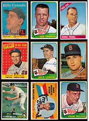 1957-1966 Topps Boston Red Sox 9 Diff Signed Malzone Consolo Lamabe Monbouquette