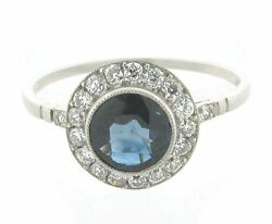 Superb 1.06 Carat Gem Sapphire Diamonds Platinum Art Deco Ring