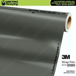 3m 2080 Br201 Brushed Steel Vinyl Vehicle Car Wrap Decal Film Sheet Roll