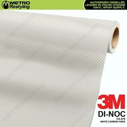 3m Di-noc White Carbon Fiber Vinyl Sheet Flex Wrap Film Roll Adhesive Ca-419