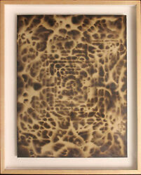 Listed American Contemporary Artist Greg Stone Original Painting Tar On Paper