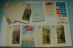 Lot Of 18 Menus From 1966 Nal Cruise On The Norwegian M.s. Sagafjord Plus More