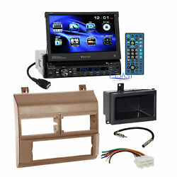 Planet Audio Car DVD Stereo Beige Dash Kit Harness for 88-94 Chevy GMC Truck
