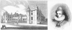 Holyrood Palace. And Anne Of Denmark, Queen James I 1845 Old Antique Print