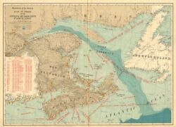 Canada Atlantic Coast. Lighthouses And Sailing Routes. White 1906 Old Map