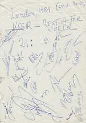 1984 Russia Vs Rest Of World Chess Match Of The Century 19 Grandmaster Signed