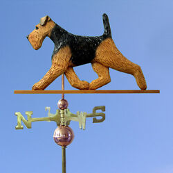 Welsh Terrier Hand Carved Hand Painted Basswood Dog Weathervane